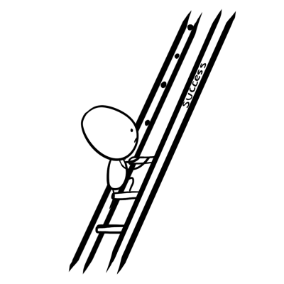 Alien can't climb the ladder of success.